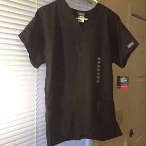 Cherokee black original workwear scrub top xs NWT!